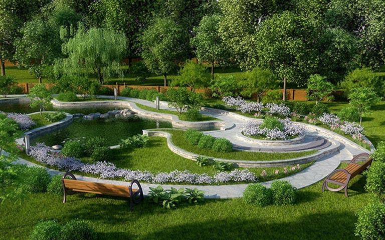 Мощение дорожек садового участка