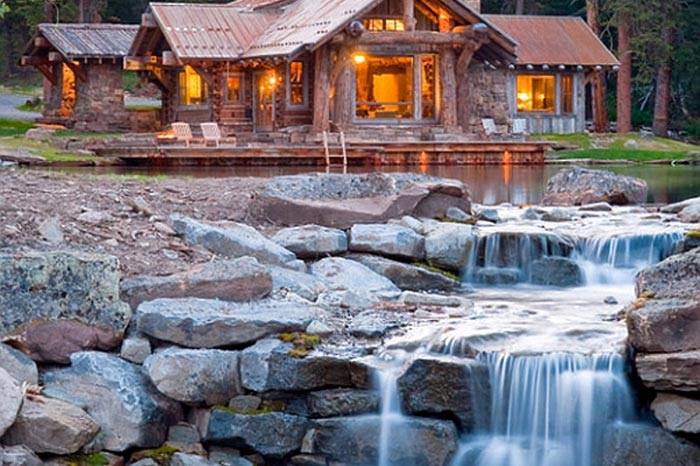 искусственный водопад на дачном участке: фото
