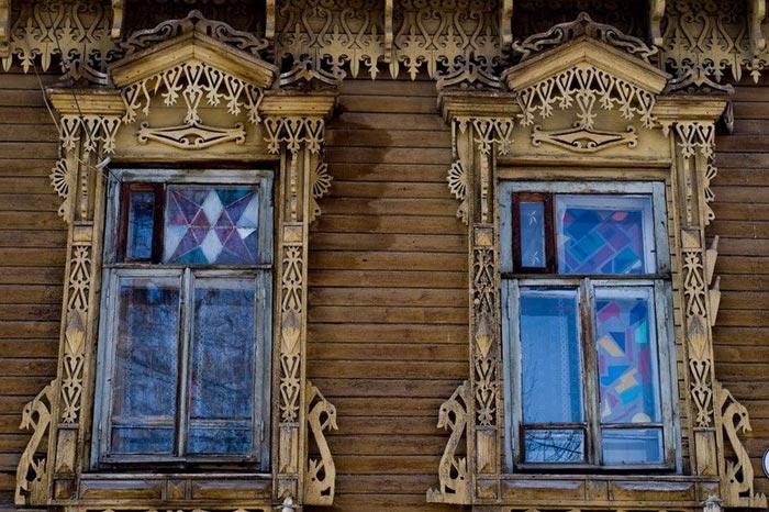 Красивые Деревянные окна