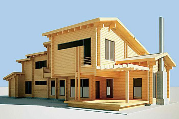 Стоимость постройки дома из бруса